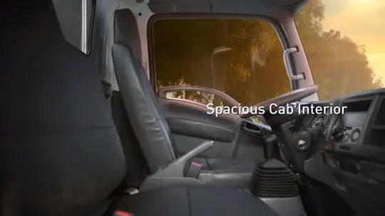Spacious Cab Interior