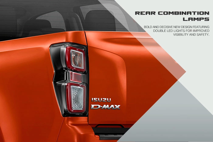 Bold and decisive new design featuring double LED  lights for improved visibility and safety.